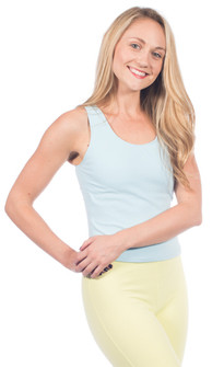 One Step Ahead Cotton Raceback Top