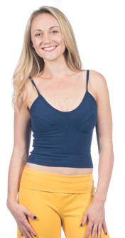 One Step Ahead Cotton Padded Cropped Top
