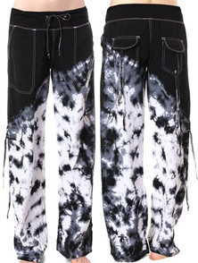 Kos Usa Black Tie-Dyed Samba Pants