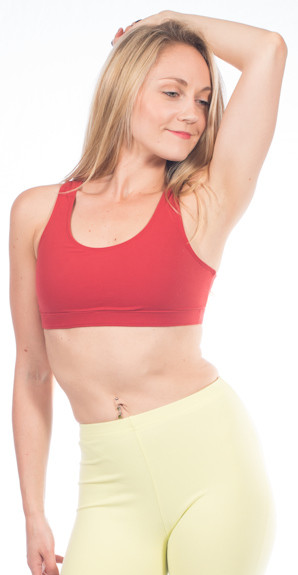 bfba0f0190 ... One Step Ahead Closeout Cotton Keyhole Bra Top. Loading zoom