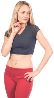 One Step Ahead Closeout Colors Supplex Cap Sleeve Cropped Top