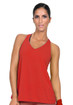 Bia Brazil Open Back Mesh Top Red