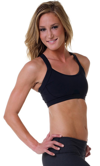 Glyder Black Open Heart Bra