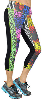Shape Up Colorful Cheetah Print Capri