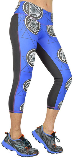 Shape Up Yoga Eye Print Capri