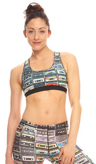 Zara Terez Mix Tape Print Sports Bra