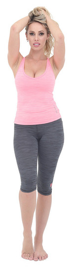 Luna Jai Ultra Soft Heather Grey Capri
