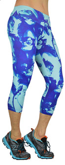Shape Up Batgirl Blues Print Capri
