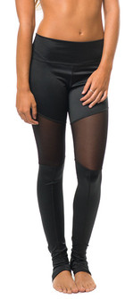 Jiva Black Mesh Studio Leggings 50% Off