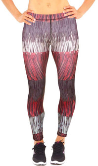 Zara Terez Leather Fringe Print Performance Legging