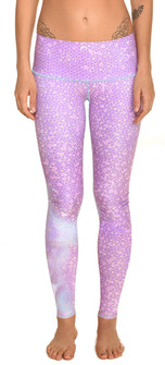 Teeki Lavender Mermaid Fairyqueen Print Legging