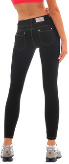Bia Brazil Jean Style Legging Black/Red Stitching