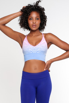 Climawear Vista Starry Eyed Print Cropped Bra