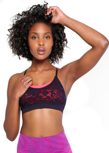Climawear Black Show Off Strappy-Back Bra