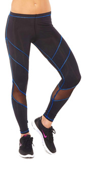 Royal Multi-Stitch Mesh Performance Legging