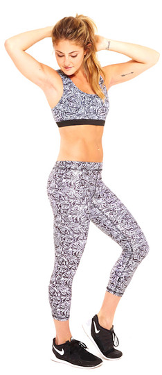 Terez Sunflower Print Performance Capri