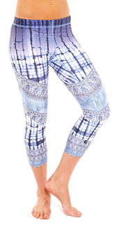 Terez Dip Dye Denim Print Performance Capri