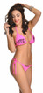 Vestem Pink Peace And Love Bikini Set