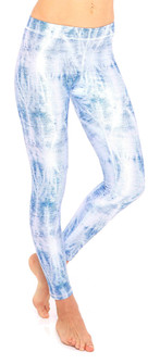 Terez Acid Wash Denim Print Performance Legging