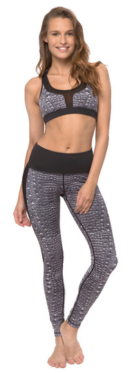 Cayman Gray Print Power Through Legging