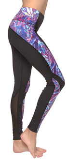 Just Live Purple Paradise Print Power Through 2 Mesh Legging