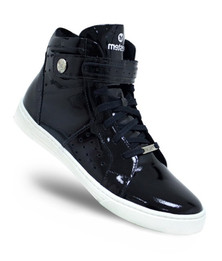 Black Varnish Hi-Top Velcro Sneaker