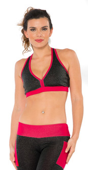 BlueFish Grey Pink Runner Bra