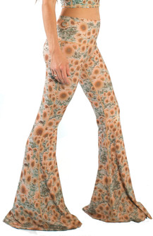 Teeki Sunrise Print Bell Bottom Pants