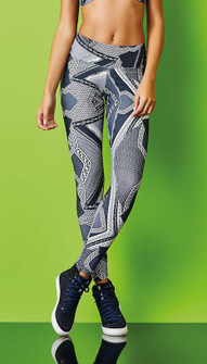 CajuBrasil India Ink Print Legging