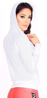 Protokolo White Candy Crush Mesh Jacket