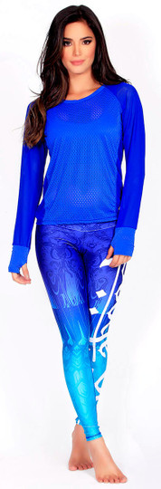 Electric Blue Whisper Top