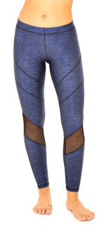 Terez Heathered Royal Mesh Performance Legging