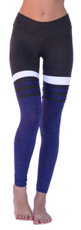 Mia Brazilia Charcoal-Purple Baseball Legging