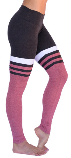 Mia Brazilia Charcoal-Red Baseball Legging