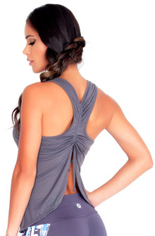 Protokolo Grey Spencer Mesh Tank