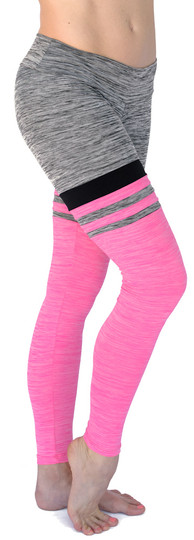 Mia Brazilia Hot Pink-Grey Baseball Legging