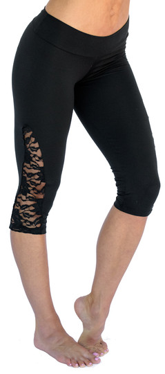 Mia Brazilia Black Lace Capri