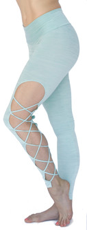 Mia Brazilia Mint Green Spacedye Racer Legging