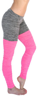 Mia Brazilia Pink-Grey Thigh High Legging