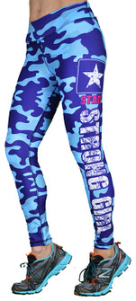Shape Up Strong Girl Blue Camo Print Legging