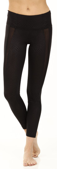 Strut-This Black Reptile Charlie Ankle Legging