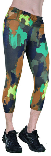 Shape UP Dirty Camo Print Capri