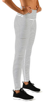 Glyder White Black Stripe High Waist Legging