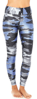 Terez Blueish Heathered Camo Tall Band Leggings