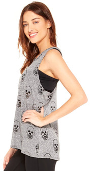 Terez Gray Starry Eyed Burnout Tank