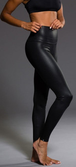 Onzie Black Diamond Shiny High Rise Legging