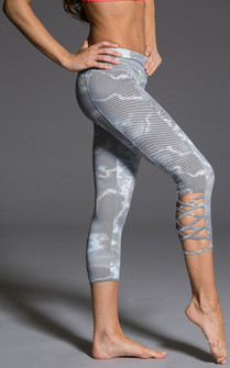 Onzie Wavy Print Cut Out Capri