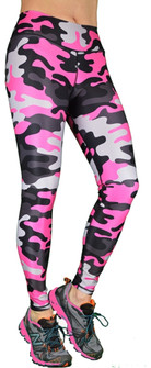 Shape Up Camo Legging In Pink