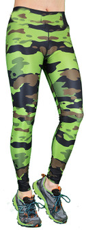 Shape Up Camo Legging In Green