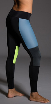 Onzie Blue Lime Colorblock Legging
